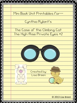 Mini Book Unit Printable for Cynthia Rylant's The High Ris