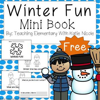 "Mini-Book ""Winter Fun!"" FREEBIE!"