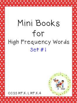 Mini Books for High Frequency Words Set #1