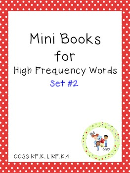Mini Books for High Frequency Words Set #2