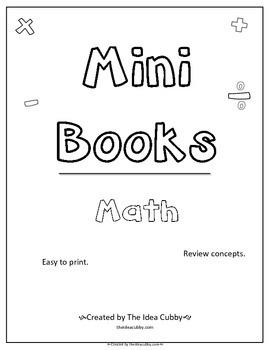 Mini Books for Math 3-5