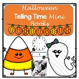 Math Mini Books- Telling Time Halloween
