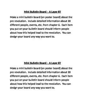 Mini Bulletin Board Assessment Project for Pre-American Re