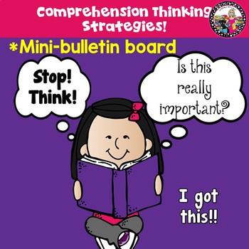 Mini Bulletin Board for Comprehension!  Strategies & Think