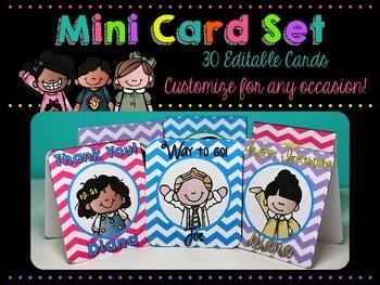 Mini Card Set {Melonheadz Edition} 30 Editable Cards for A