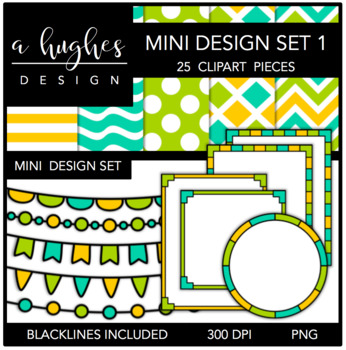 Mini Design Set 1 {Graphics for Commercial Use}