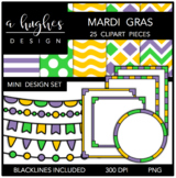 Mini Design Set Mardi Gras {Graphics for Commercial Use}