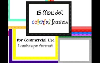 Mini Dot Frames for commercial use 15 colors