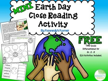 Mini Earth Day Close Read FREEBIE