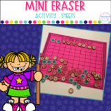 Mini Eraser Activity Sheets- Math and Spelling