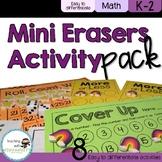 Mini Eraser Math Activities