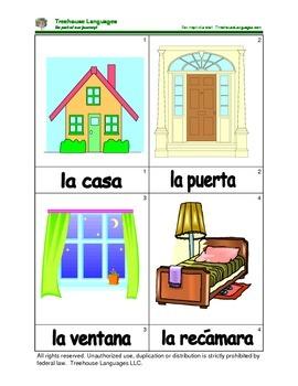 Mini Flashcard Set - La casa / House