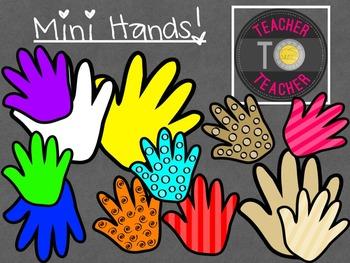 Mini Hands {TeacherToTeacher Clipart}