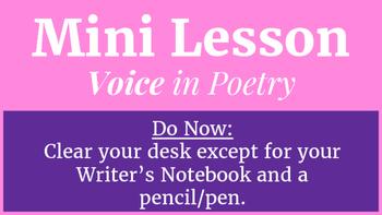 Mini Lesson: Voice in Poetry