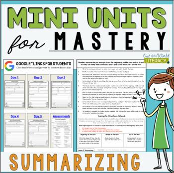 Mini Lessons for Mastery- Summarizing