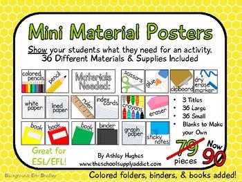 Mini Material Posters