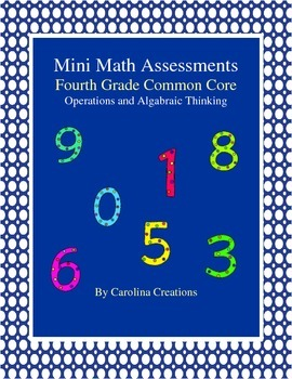 Mini Math Assessments - Operations and Algebraic Thinking