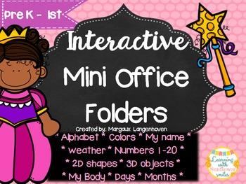 Mini Office Folder - Princess Theme