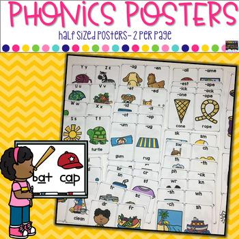 Mini Phonics Posters/Anchor Charts