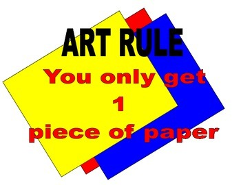 Mini Poster: Art Rule