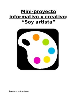 """Mini-Project Sp3 or Sp4 - Soy Artista: Students """"Become"""" S"""