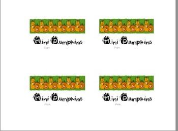 Mini Pumpkins Goody Bag topper