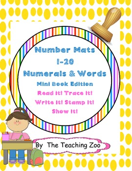 Mini Number Words Mats & Books {Numbers 1-20}