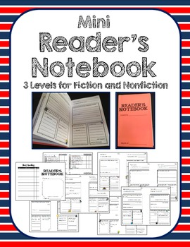 Mini Reader's Notebook with Prompts - Beginning Level