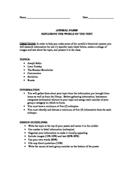 Mini-Research Project Assignment for Setting of Animal Far