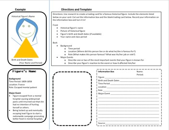 Research Assignment: History Trading Cards with Doctor Who Game