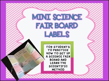Mini Science Fair Board Labels to teach the Scientific Met