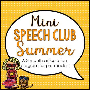 Mini Speech Club Summer