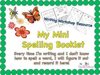 Mini Spelling Booklet, Resource For Writing Workshop
