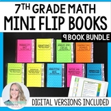 Mini Tabbed Flip Book Bundle for 7th Grade Math