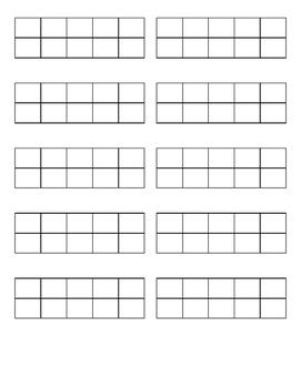 Mini Ten Frame Printables (Blank)