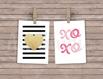 Mini Valentine's Digital Printable Cards