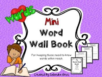 Mini Word Wall Book