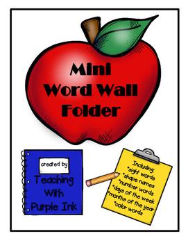 Mini Word Wall Folder