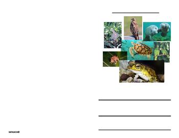 Mini libro sobre animales en peligro de extinción de PR