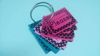 Mini sight word cards