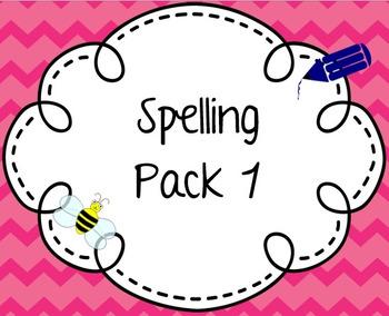 Spelling Pack 1 - adding ing, homophones, plurals, prefixe