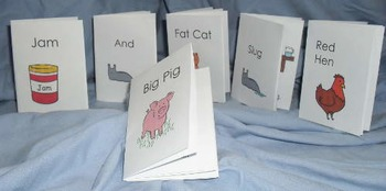 Minibook phonics pre-reader early emerging reader receptio