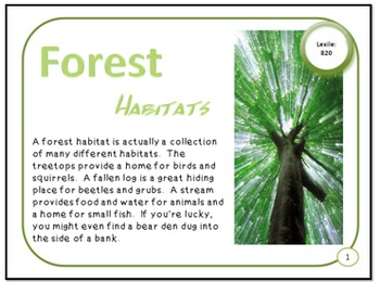 Minibooks Forest Habitats Differentiated for 820 and 660 L