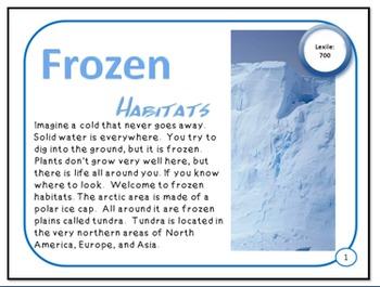 Minibooks Frozen Arctic and Tundra Habitats Leveled for 91