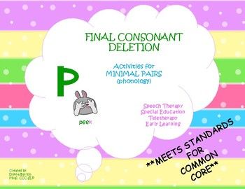 Minimal Pairs Final Consonant Deletion Phonology