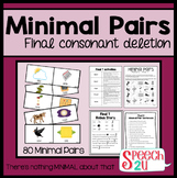 Minimal Pairs: Final Consonant Deletion, Phonology, Speech