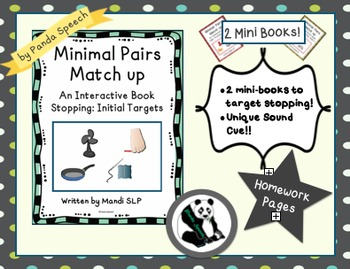 Minimal Pairs Matchup: Stopping (s/f) 2 mini books! Phonol