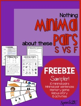 Minimal Pairs S to F, Phonology, Articulation