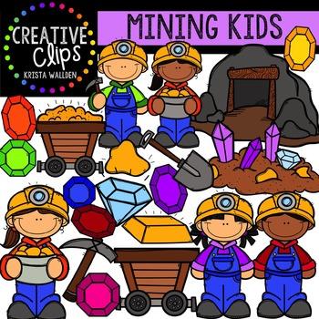 Mining Kids {Creative Clips Digital Clipart}