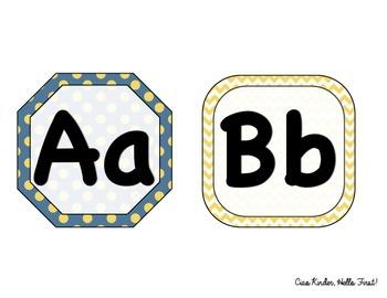 Minion inspired Alphabet